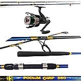 globe fishing Canna da Pesca CARPFISHING LBS 3 MT.3,60 + Mulinello Carpa Runner