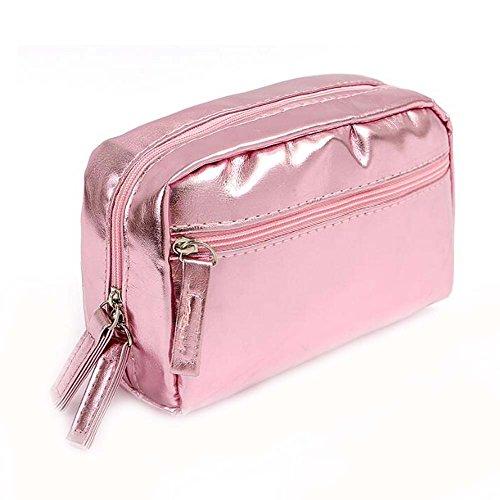 Femmes roses étanches sac de voyage de sac de voyage de sac cosmétique