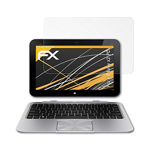 atFolix Panzerfolie kompatibel mit HP Envy x2 PC Schutzfolie, entspiegelnde & stoßdämpfende FX Folie (2X)