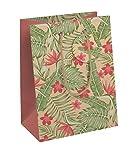Clairefontaine 27063-3C – Un sacchetto di carta regalo medio 21,5 x 10 x 25,3 cm, in carta kraft tropicale