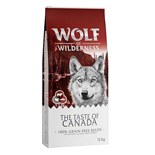 Wolf of Wilderness The Taste of Canada Trockenfutter für ausgewachsene Hunde, mit frischem Rind, Dorsch und Truthahnen, 5 kg
