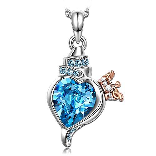 Susan Y muttertagsgeschenke Geschenk für Frauen Halskette Damen Swarovski Halskette blau Muschel kristallen schmuck für Damen Mama 30 18 geburtstaggeschenk Geschenk für Mama Beste Freundin