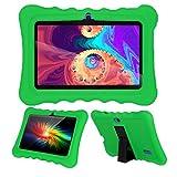 AIJAKO 7 Inch Silicone Case for Kids Tablet Haehne 7/Dragon Touch Y88X Plus Y88X Pro/YUNTAB Q88/ZONKO 7/Contixo 7/Tagital T7K/iRULU X37/SIXGO 7/INONI 7/LAMZIEN 7/Dasuy 7/CARRVAS 7/Pritom 7 (Green)