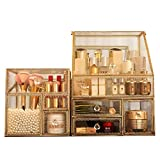 Hailong Clear Acrylic Makeup Organiser, Storage Cosmetic Box with 4 Drawers - Suitable for Storing Women's Cosmetics - Dustproof Dormitory Large Capacity - Jewelry