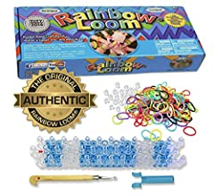 Authentic Rainbow Loom –Rainbow Loom is the first and original rubber band loom Explore your creativity - Rainbow Loom has enough rubber bands to make up to 24 rubber band bracelets or multiple necklaces, rings, charms, action figures and much more! ...