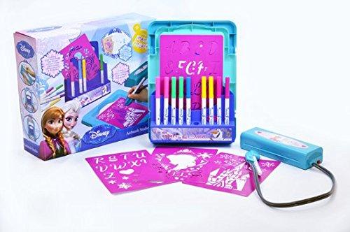 Preisvergleich Produktbild Airbrush Farbstudio AUSWAHL Tattoo Set Malset Die Eiskönigin Princess (Frozen - Die Eiskönigin)