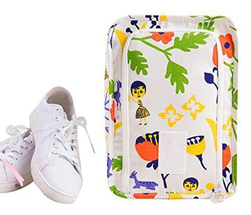 NOVAGO Bolsa Portátil de Zapatos/Organizador Viaje (Blanca)
