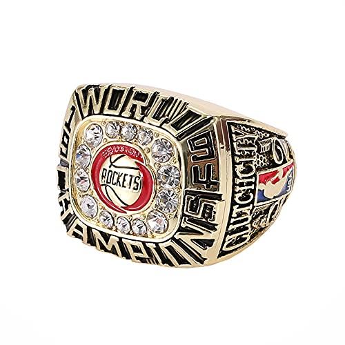 TYTY Basketball NBA 1994 Houston Rockets Championship Ring Campeonato Campeones Anillo de réplica para Aficionados Hombres de la colección del Regalo del Recuerdo de la Pantalla,with Box,10#