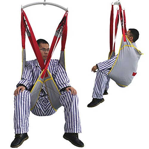 BAODANF Ganzkörper-Patientenlifter Sling Treppenrutsche Transfergurt,aus Netzgewebe mit Toilettenschlinge Design mit geteiltem Bein,Für Krankenpflege,ältere Menschen,Behinderte