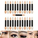 Professional Make Up Artists Set With 25pcs Disposable Double Ended Eyeshadows Applicators/Smudge Sponges Brushes/Eyes Makeup Tools By VAGA