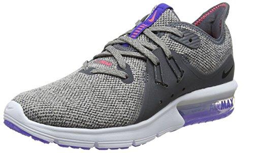 Nike Women's Air Max Sequent 3 Running Shoe (9 B(M) US, Dark Grey/Black-Moon Particle)