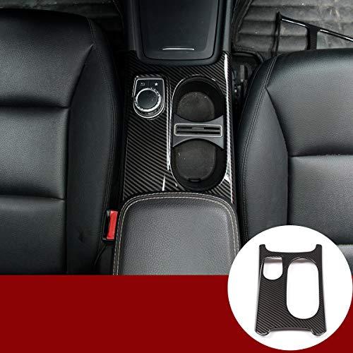 YIWANG Copertura del supporto della tazza della fibra di carbonio Trim Per Benz A/GLA/CLA Classe C117 W117 W176 X156 2012-2018 Guida a sinistra Accessori Auto