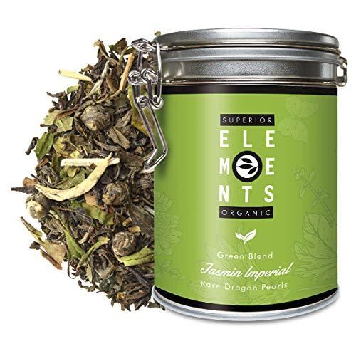"\""Jasmin Imperial\"" Mezcla de Té Verde sabor Jazmín, Lata A Granel 100 Gramos - alveus Premium Teas"