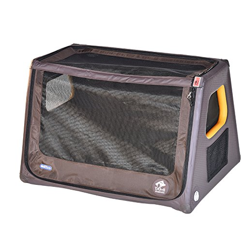 SUPwave Tami - Hundetransportbox aufblasbar Tragebox Transportbox Hundebox Reisebox Autotransportbox Kofferraumbox Gitterbox Käfig Hund Box Dogbox Inflatable inkl. Dog-Vital Bio-Hundekeks (L)