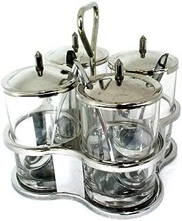 Thai Kitchen Seasoning Storage Set Stainless Steel Herb Spicy Container by Thai Kitchenware