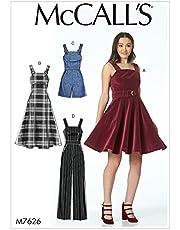 MCCALL 's Patterns 7626D5de Costura para Vestidos, cinturón, Pelele y Mono, Multicolor