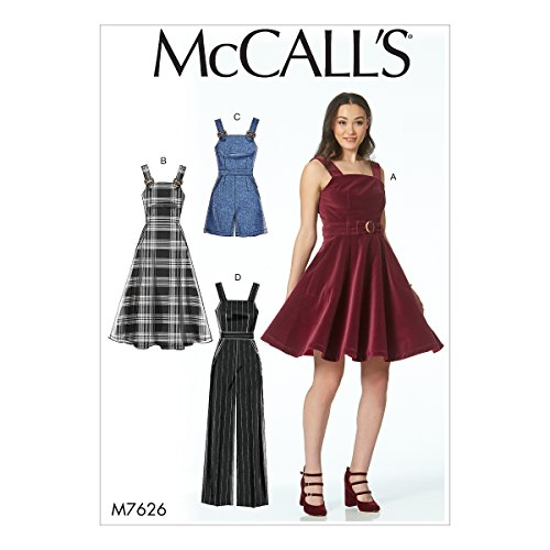 McCall's Patterns Dresses, Belt, Romper, And Jumpsuit With Pockets