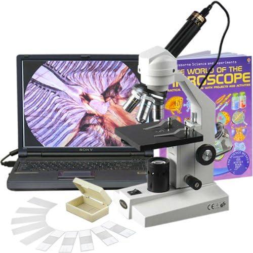 barato en alta calidad Microscopio Compuesto AmScope AmScope AmScope M200C-PB10-WM-E 40X-1000X robusta Estudiante  la red entera más baja