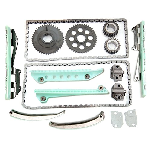 ECCPP TK6046 Timing Chain Kit Tensioner Guide Rail Cam Sprockets Crank Sprocket fits for 1997 1998 1999 2000 2001 2004 Ford Crown Victoria E-150 F-150 Lincoln Mercury 4.6L SOHC