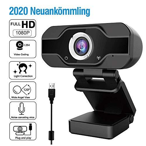 Innoo Tech USB HD 1080P Webcam mit geräuschunterdrückendem Mikrofon PC Laptop Desktop Webkamera mit drehbarem Clip für Videoanrufe,Spiele,Live-Streaming und Konferenzen