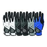 Zero Friction Men's Performance Universal-Fit Golf Glove, Multicolor V2 6Pk
