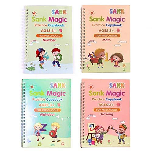 Hanone Práctico Libro de rastreo Digital para niños en Edad Preescolar, Cuaderno para niños de abolladuras, Multicolor A
