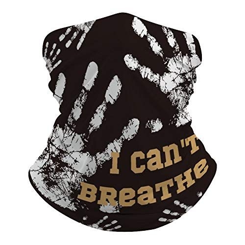 I Cant Breathe Écharpe polyvalente pour le visage et la bouche, bandeau magique imprimé hippie, cache-cou, cache-cou pour extérieur résistant à la poussière, 40 x 24 cm (L x l) 4pm65szvbrm