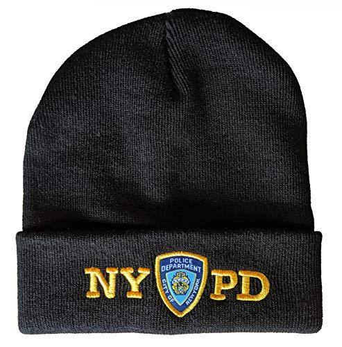 Anti Crime Security Inc. NYPD Beanie-Mütze mit Totenkopf