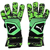 PUMA ONE Grip 1 Hybrid PRO Glove, Black/Charcoal Gray/Green Gecko, 8 D(M) US