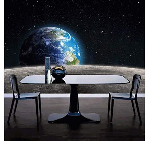 Fotobehang Planeet Achtergrond Muursticker Schilderij 3D Slaapkamer Woonkamer Thuis Achtergrond Decoratie Zijden Doek Decals Kunst (W)200X(H)140cm