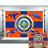 Dart War Party Backdrop Gun Shooting Targets Blaster Background for Boy's 7x5ft Photo Booth Banner for Cake Table Supplies LSVV1190