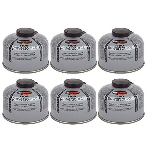 Go System 6 x Schraubkartusche Ventil Gas Kartusche Kocher Iso Butan/Propan 100 g