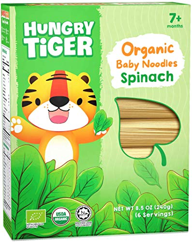 Hungry Tiger - Organic Baby Noodles Spinach 8.5 OZ (6 portions)