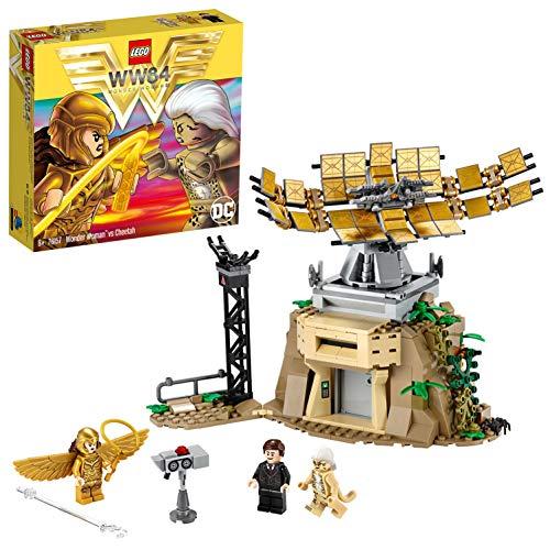 LEGO 76157 Super Heroes Wonder Woman vs Cheetah mit Max Minifigur, Bauset, Sammler-Spielzeuge für Kinder