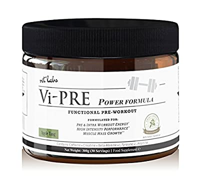Vi-Pre Power Workout Enhancer. Pre Workout Supplement and Powerful Muscle Builder for Pre & Intra Workout Energy + High-Intensity Performance. Contains Creatine, L Arginine, Beta Alanine, L Tyro from RCT Labs