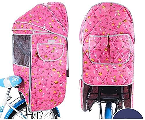 X&Y Bicicleta Niño Asiento Trasero Algodón de algodón A Prueba de Agua Cubierta de toldos de Lluvia, sin Asiento (Color : A)