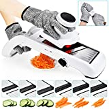 Deluxe Adjustable Mandolin Slicer by Harcas. Best for Slicing Food, Fruit and Vegetables