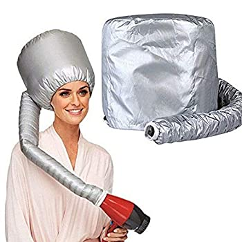 Portable Soft Bonnet Hood Hair Blow Dryer Attachment - Adjustable Hooded Dryer Portable Hair Salon Heat Cap for Drying,Styling,Curling and Deep Conditioning,Relax Speeds Up Drying Time at Home