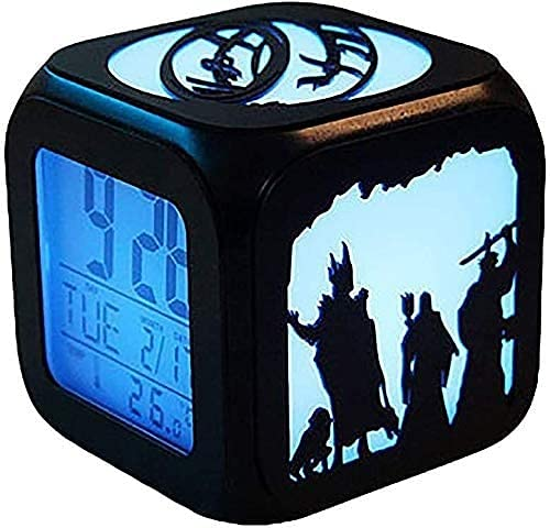 Clock Despertadors Reloj de Alarma estéreo Creativo 3D de Moda DIRIGIÓ Luz de Noche Dormitorio electrónico de Noche USB Reloj Despertador de Carga LSJZXW