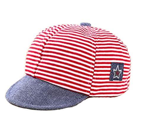 Sombrero infantil de algodón, gorro para bebé, gorro de verano, sombrero ajustable para 1-2 años de edad, sombrero para niños, niño, niña, sombrero de bebé, gorro para el sol con visera