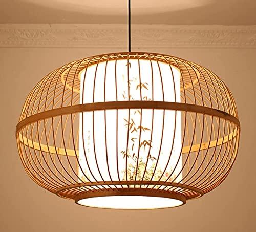 YMLSD Araña, Araña China Arte Bambú Linternas Exquisito Retro Pastoral Estilo Hecho a Mano Bambú Lámpara Restaurante Sala de Estar Dormitorio Estudio Lámpara de Araña
