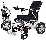 Silla de ruedas eléctrica plegable ligera Silla de ruedas eléctrica plegable Silla de ruedas eléctrica compacta y compacta, silla de ruedas motorizada ligera y plegable, potente silla de ruedas de do