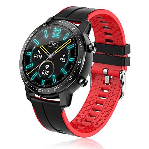 Bluetooth Smart Watch Reloj Inteligente Mujer Hombre Pulsómetro IP68 Impermeable Pulsera de Actividad Inteligente con Monitor de Sueño Contador de Caloría Pulsómetros Podómetro para Android iOS