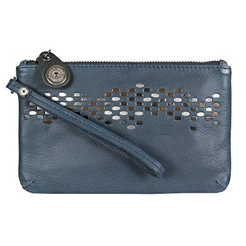 Noosa Damen Handtasche mini Clutch Raw Romance Jean (blau)