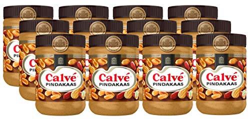 12 X Calvé Pindakaas - Erdnußbutter - 650g