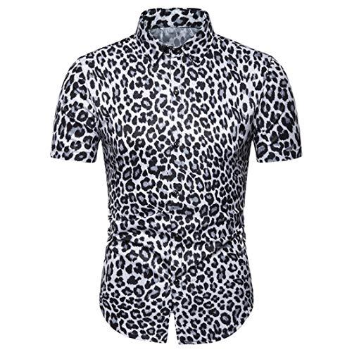 Camisa Hombre Básica Slim Fit Stretch Verano Hombre Deportiva Camisa Moderna Moda Empalme Lazada Manga Corta Correr Shirt Casual Cómodo Transpirable Hombre Camiseta L-Gray3 L