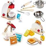 Hape Geräte-Set für die Kinderküche Mixer / Toaster / Kaffeemschine und Töpfe