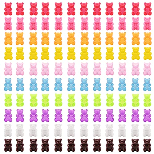 Gukasxi 120 pcs Candy Gummy Bear Charms Resina Oso Colgantes en 10 Colores, Resina Oso Llaveros Collar Encantos para DIY Joyería Fabricación Pendiente Pulsera Collar Proveedores