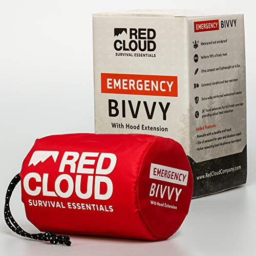 Emergency Sleeping Bag Thermal Waterproof Survival Bivvy Bag- Replace Emergency Blankets with this Lightweight Survival Bivy Sack Bag - The Ideal Survival Bag to have in the Car or on a Hiking Trail