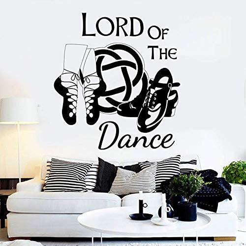 guijiumai Irischer Tanz Irische Wandaufkleber Tanzschuhe Aufkleber Zitate König der Tanzaufkleber Tanzclub Wanddekoration Mädchen Schlafzimmer Dekoration 42x45cm